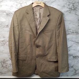 Michael Kors Mens Suit Jacket Khaki Tan 44R EUC